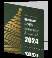 Zakelijke Kerstkaart Zakelijk Met Tekst En Gouden Kerstboom
