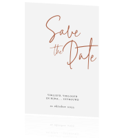 Cleane Save the Date kaart Lovely Lettering