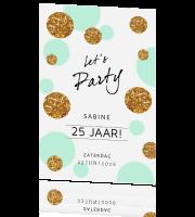 Feest Uitnodiging 25 Jaar Verjaardag Van Blijkaartje