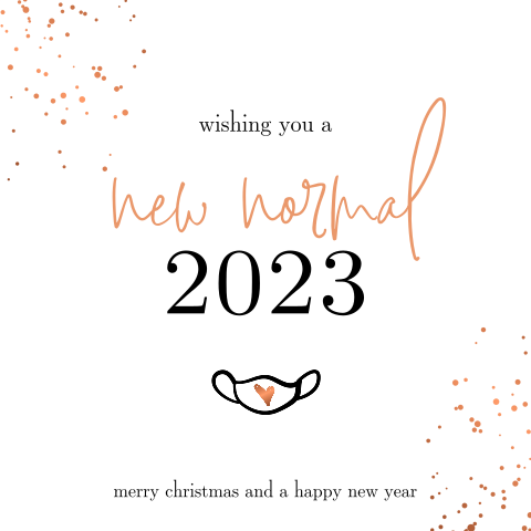 New normal 2022 hippe kerstkaart