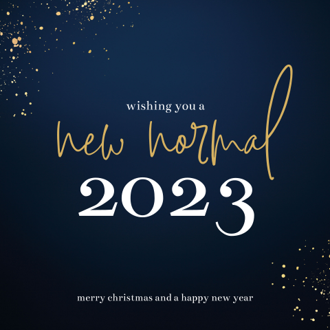 Zakelijke kerstkaart: Wishing you a new normal 2021