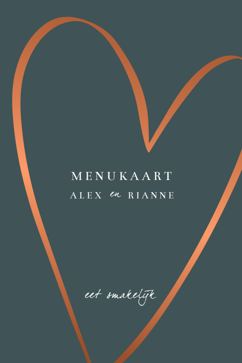 Menukaart One Love One Heart