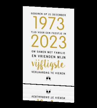 Nieuw Hippe 50 jaar uitnodiging met 1969 ZG-69